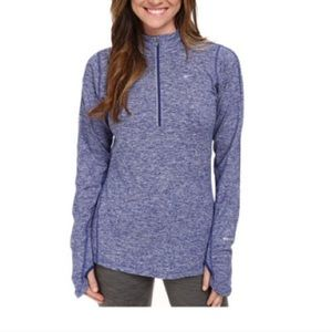Women's size large blue Nike 1/2 zip pullover